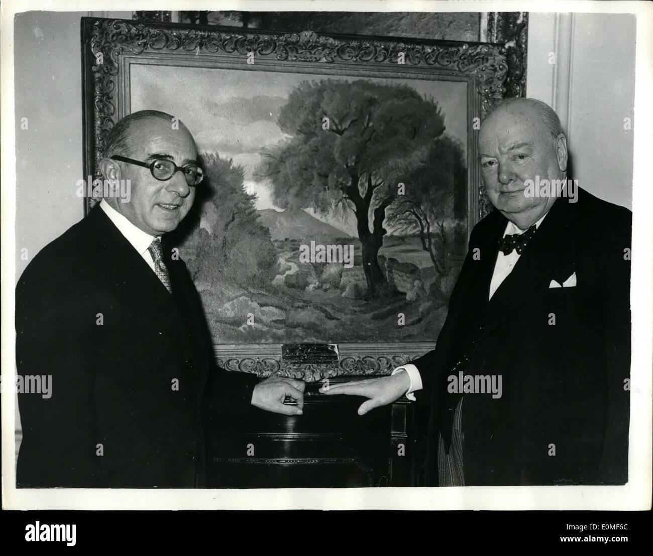 Pintura De Sir Winston Churchill Imágenes De Stock Pintura