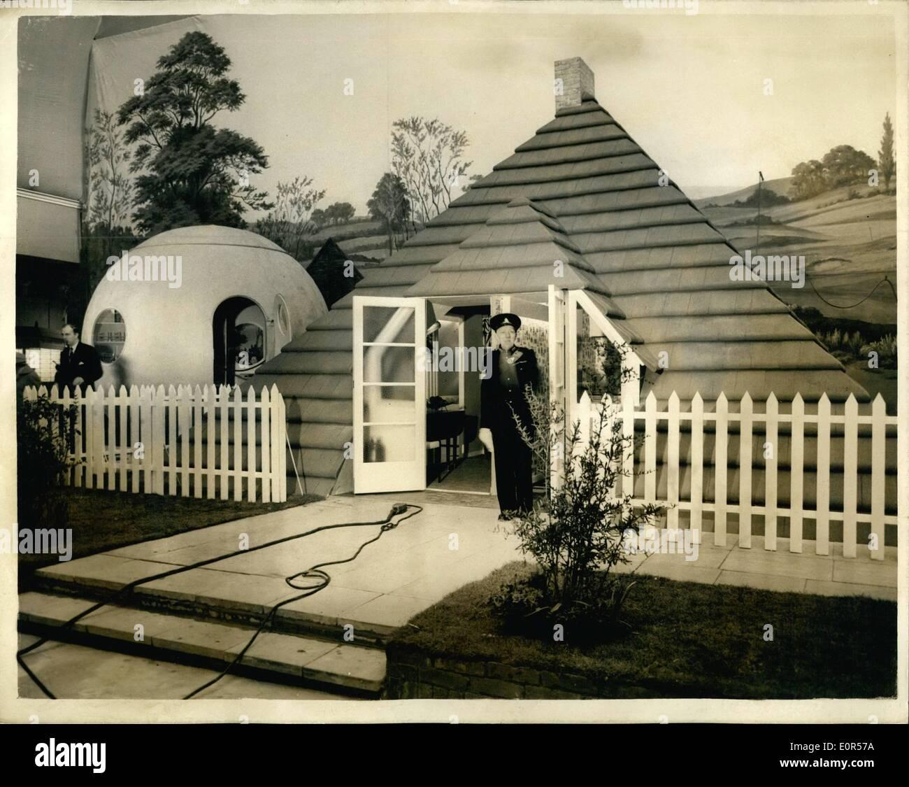 Marzo 03, 1958 - Ideal hogares exposición en Olympia. Alemán - casa ...
