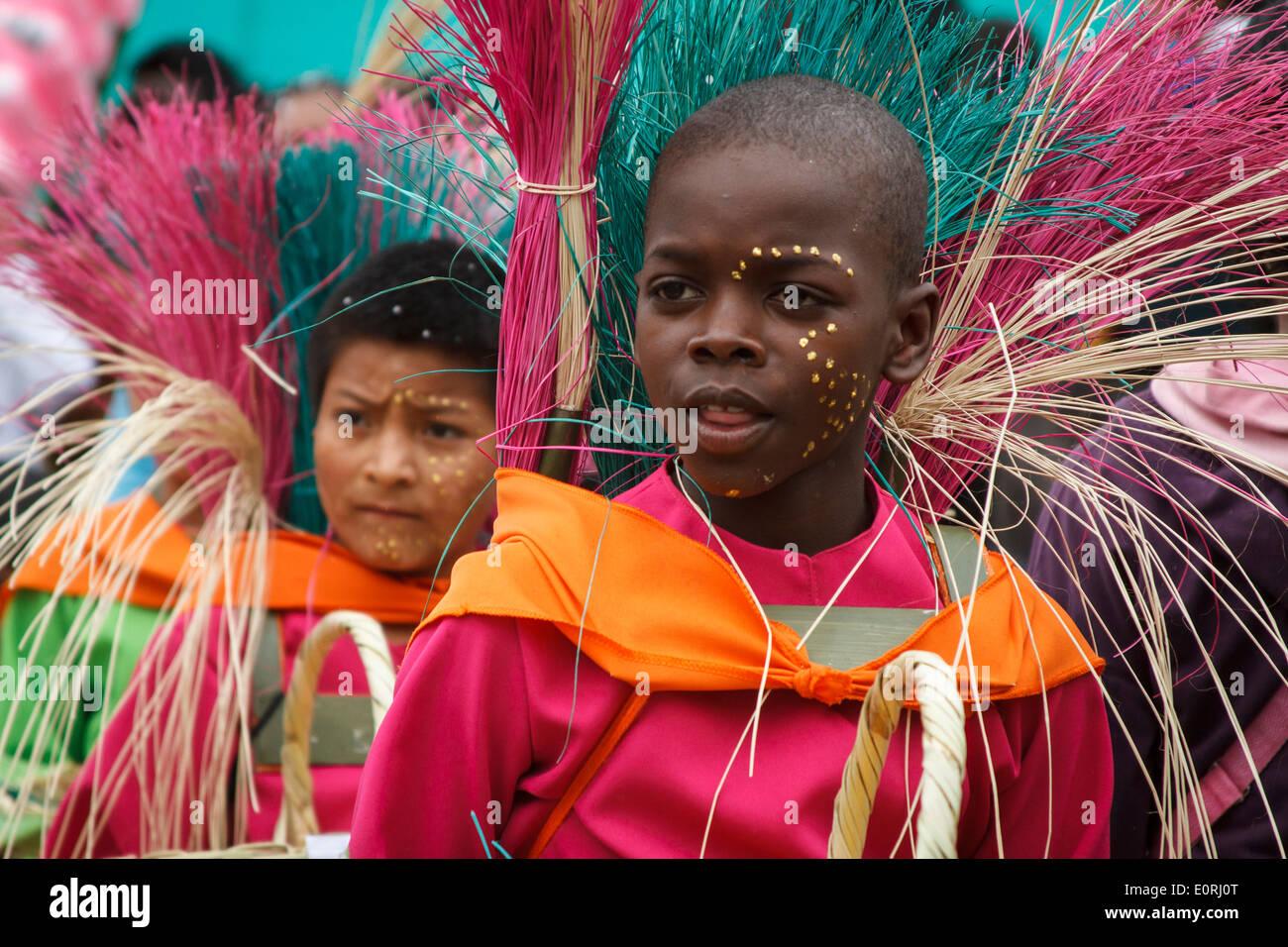 Carnaval de Negros y blancos, festival tradicional colombiana. Se celebra del 2 al 7 de enero de cada año. Imagen De Stock