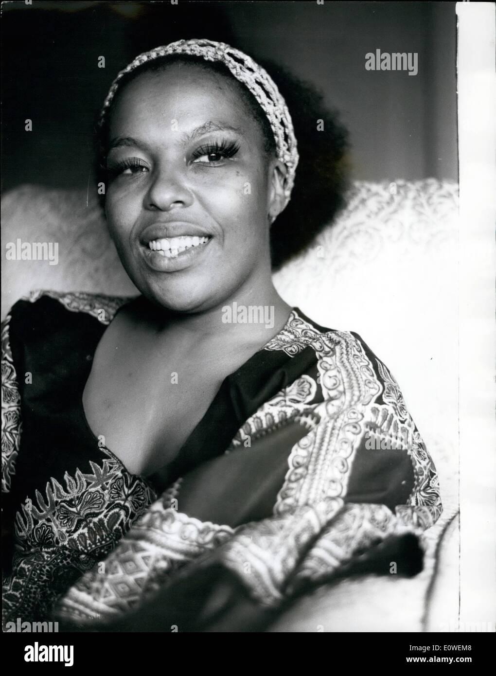 Jul 31, 1962 - Julio 31st, 1962 Foto llamada de Roberta Flack. hoto Muestra: la cantante americana Roberta Flack, retratada en t Imagen De Stock