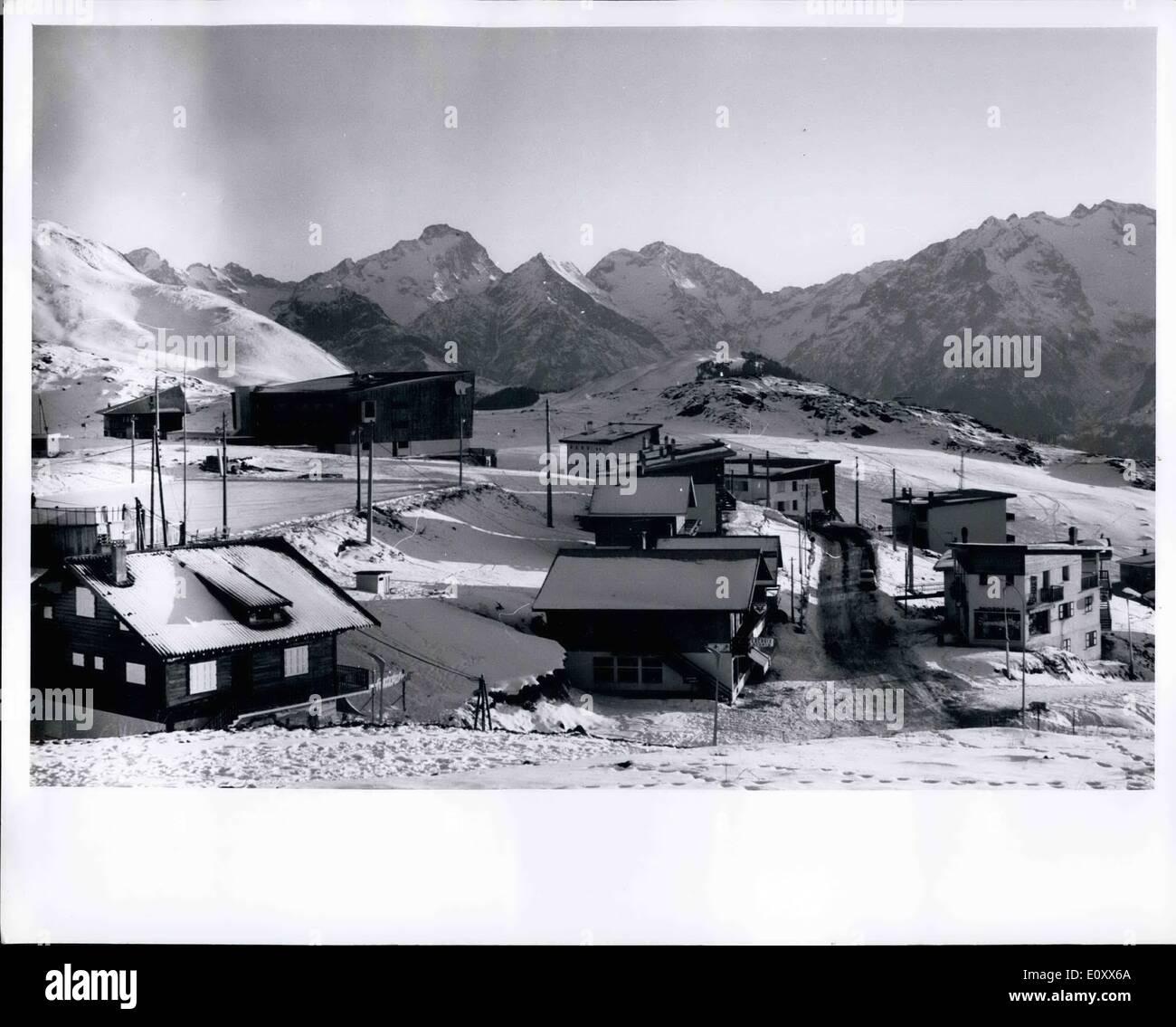 Enero 01 1968 Grenoble Francia Sitio De Juegos Olimpicos De