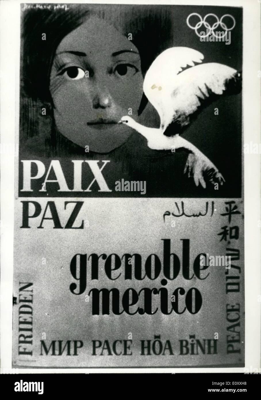Enero 01 1968 Juegos Olimpicos De Invierno De Grenoble Ops Uno