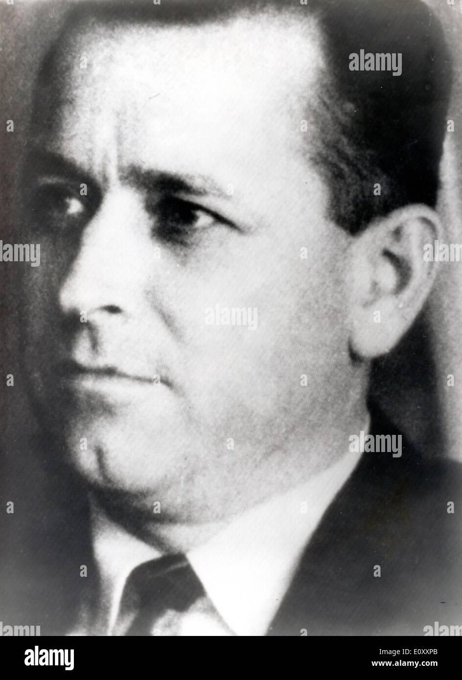 Primer plano del hombre que asesinó a MLK Jr. James Earl Ray Foto de stock