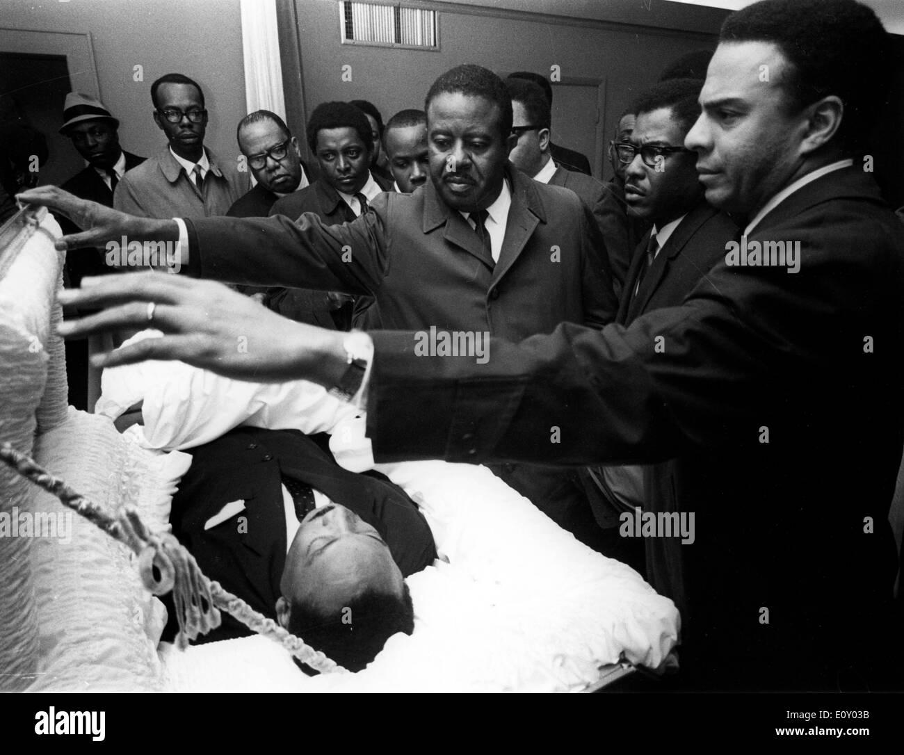 Funeral del reverendo Martin Luther King Jr. Foto de stock