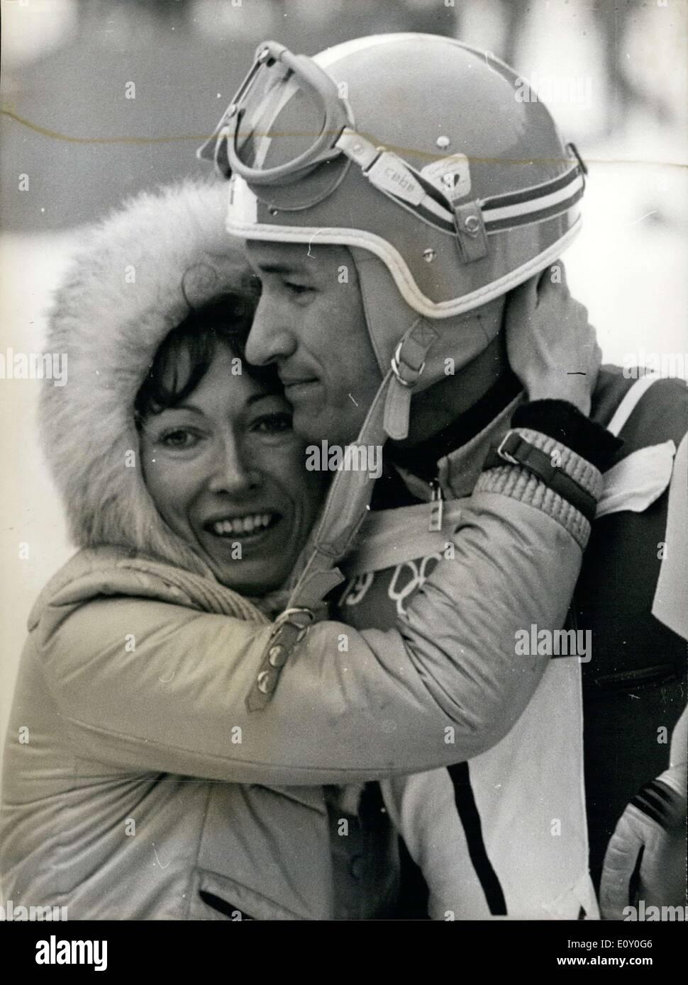 Febrero 10 1968 Estan En Los Juegos Olimpicos De Invierno En
