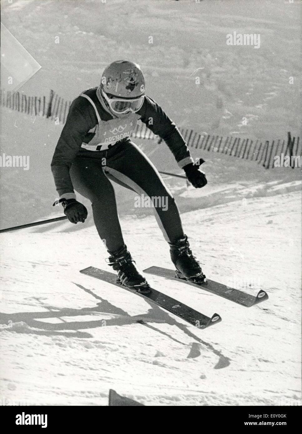 Febrero 11 1968 El Es Durante Los Juegos Olimpicos De Invierno