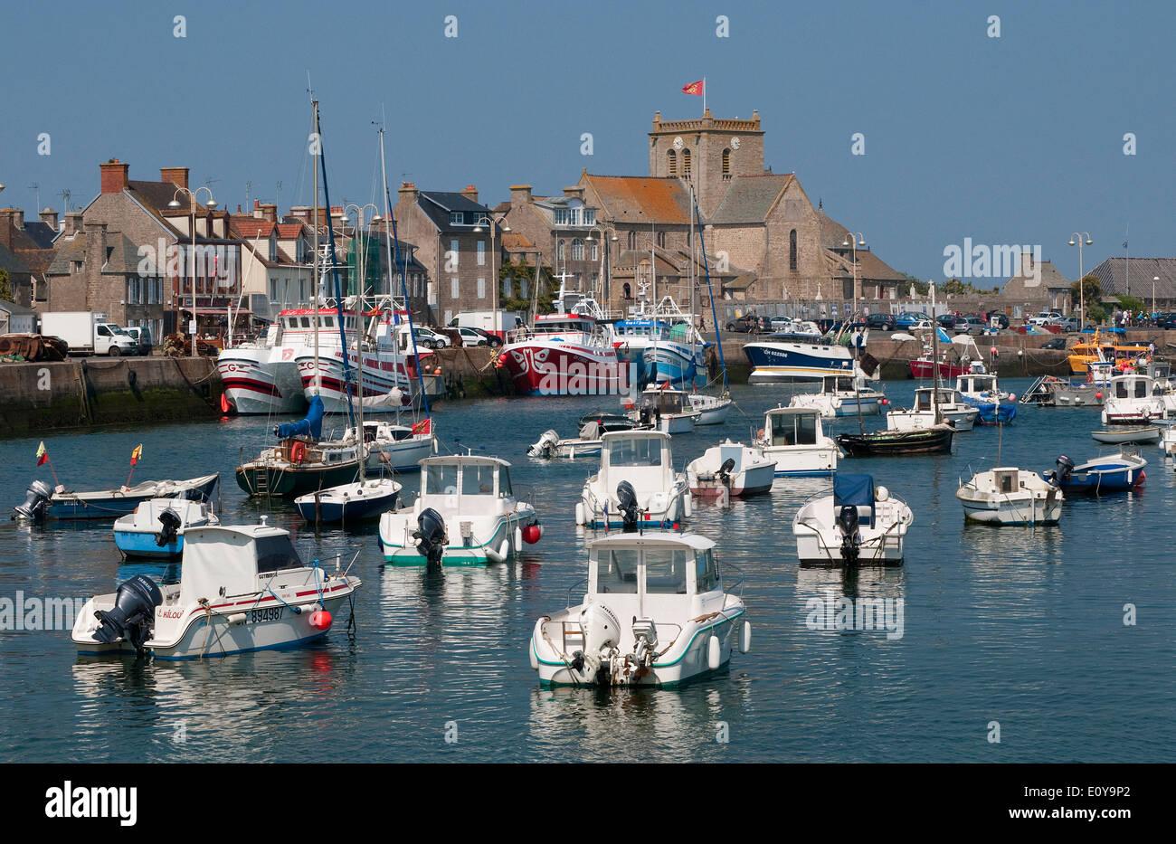 Barfleur, Normandía, Francia Foto de stock