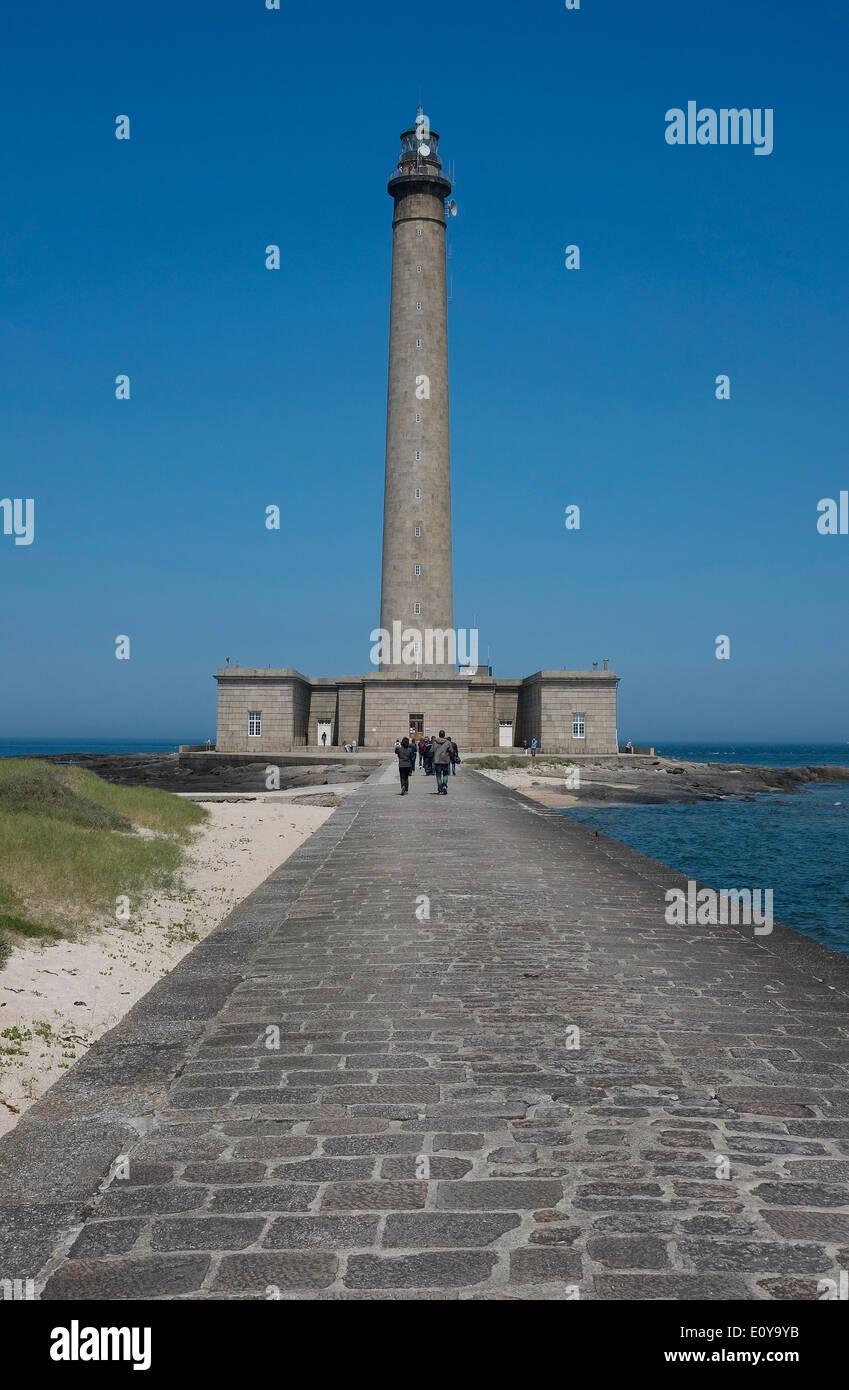 Faro de gatteville-le-phare, pointe de Barfleur, Normandía, Francia Foto de stock