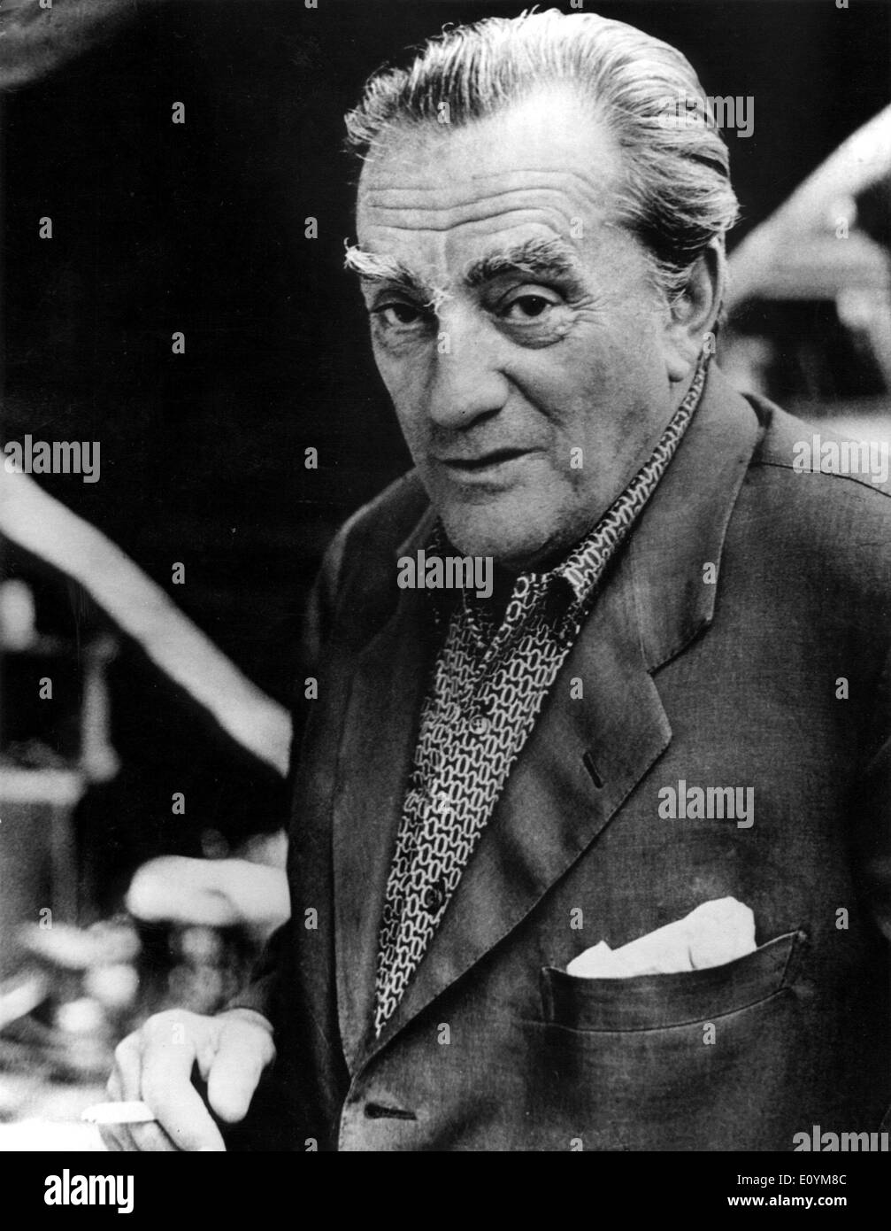 Retrato del director de cine Luchino Visconti Foto de stock