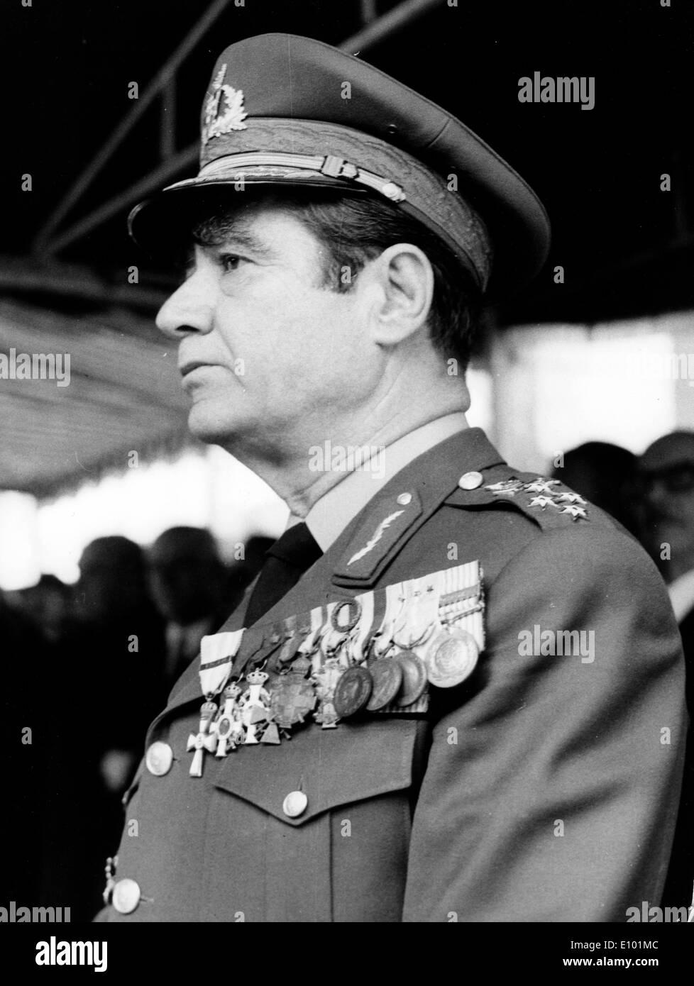 Jefe de las Fuerzas Armadas, General GREGORIOS BONANOS Imagen De Stock