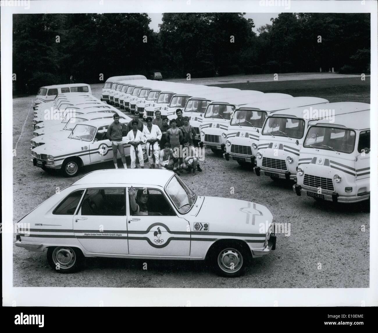 Agosto 08, 1972 - elegido Renault para las Olimpiadas?: Apenas, desde el deporte de motor no está incluido Imagen De Stock