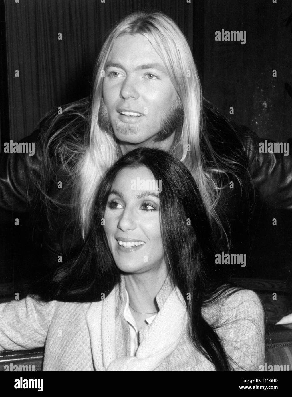 La cantante Cher con Gregg Allman Imagen De Stock