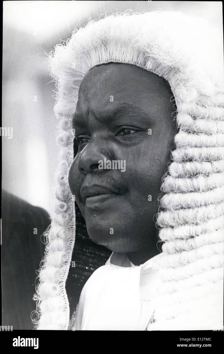 El 24 de febrero, 2012 - El Sr. F.M.G.MATI, MP. El portavoz de la Asamblea Nacional de Kenya. Foto de stock