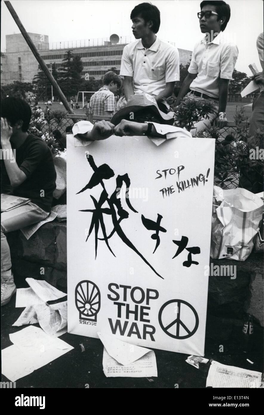 Marzo 27, 2012 - Movimiento por la paz. Imagen De Stock