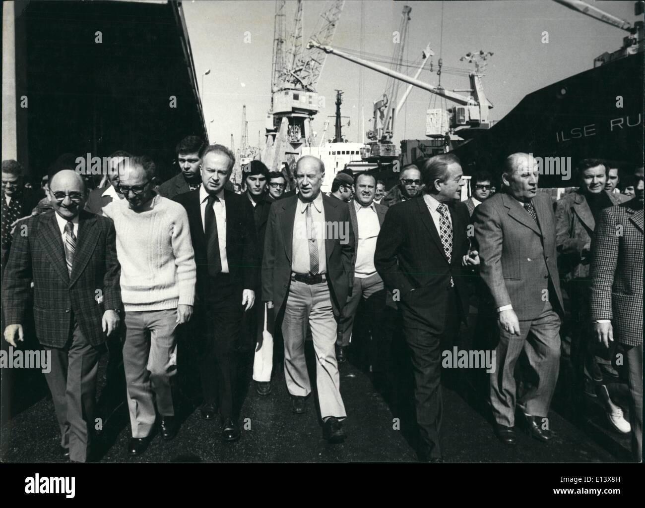 Marzo 27, 2012 - Premiere Ytzak Rabin Imagen De Stock