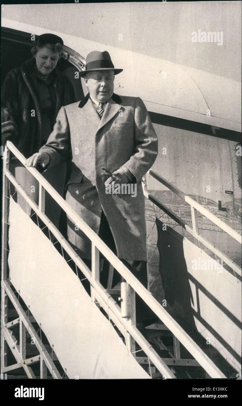 Marzo 27, 2012 - Madrid España: U.S. Navy Setary, Charles S. Thomas, quien ha llegado hoy en Madrid para una visita oficial de 4 días Imagen De Stock