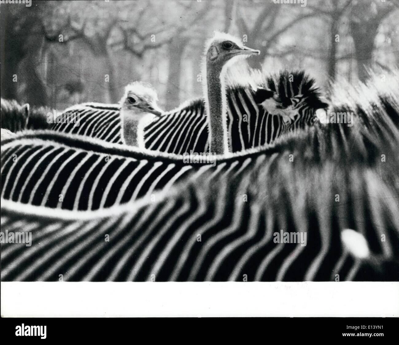 Marzo 27, 2012 - Un estudio en blanco y negro. Este premio - La imagen ganadora, tomada en el Wilhelma Zoo en Stuttgart, Alemania occidental, Imagen De Stock