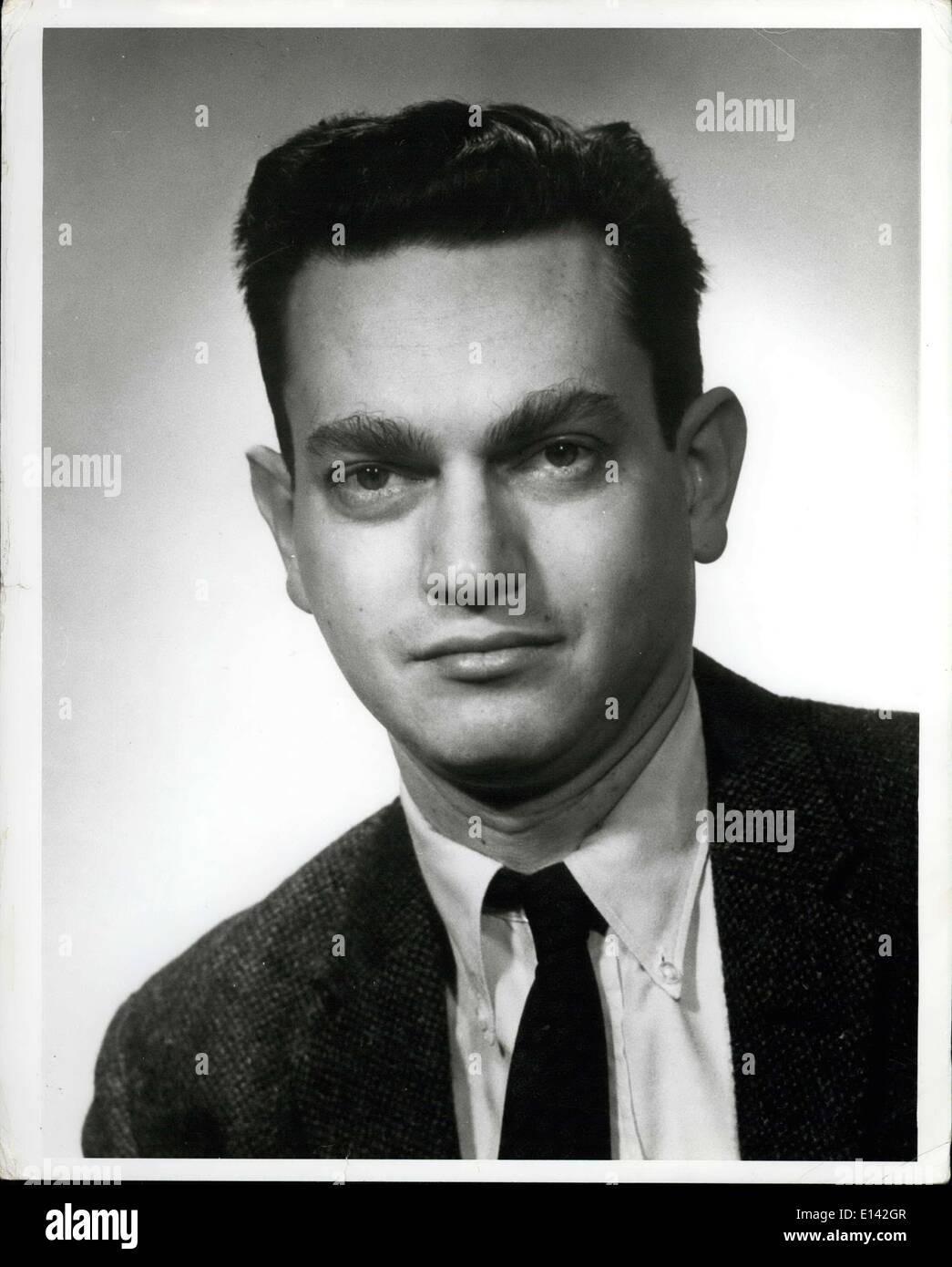 Marzo 31, 2012 - 1968, Premio Nobel de Fisiología y Medicina vencedor el Dr. Marshall W. Nirenberg. Imagen De Stock
