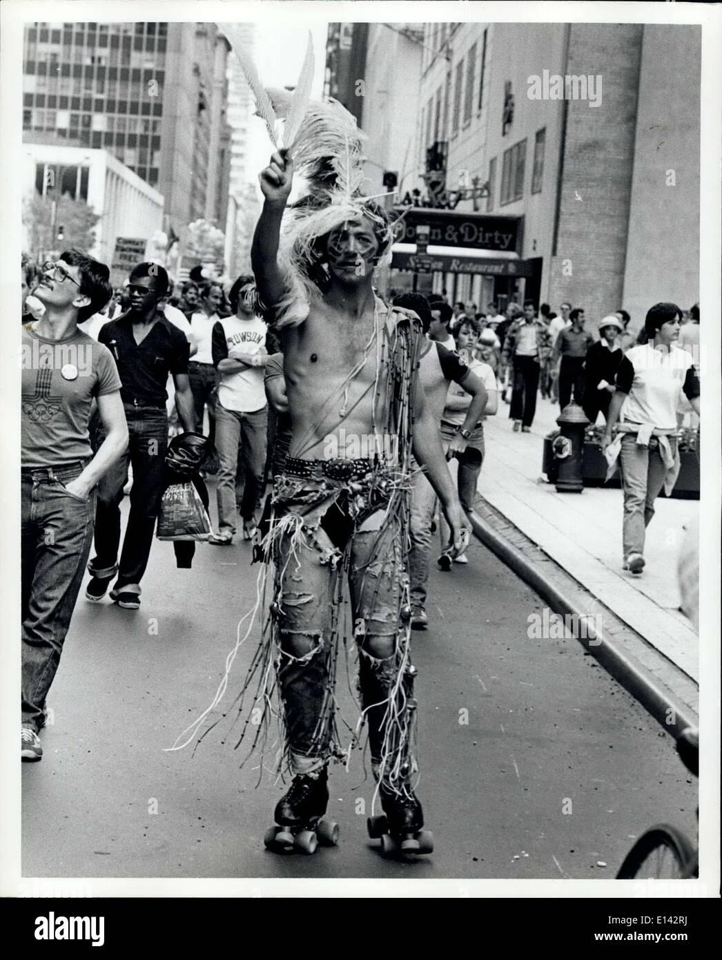 Abril 04, 2012 - la defensa de los derechos de los Homosexuales Demo, N.Y.C. Imagen De Stock