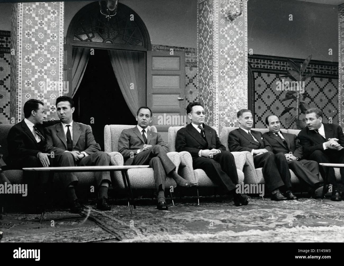 Archivo - Ahmed Ben Bella, (25 de diciembre de 1918 - 11 de abril de 2012), quien fue un miembro clave de la revolución Foto de stock