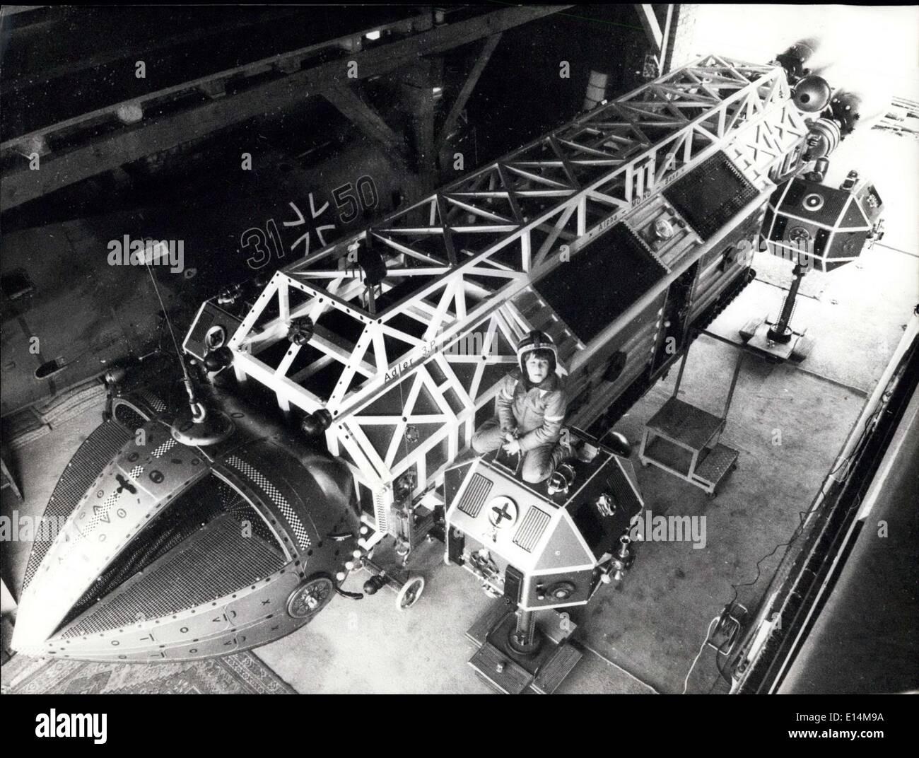 Abril 05, 2012 - Bávaro Home-Mechanic construyó un espacio - Buque: una duplicación de la original ''Eagle'' de Foto de stock