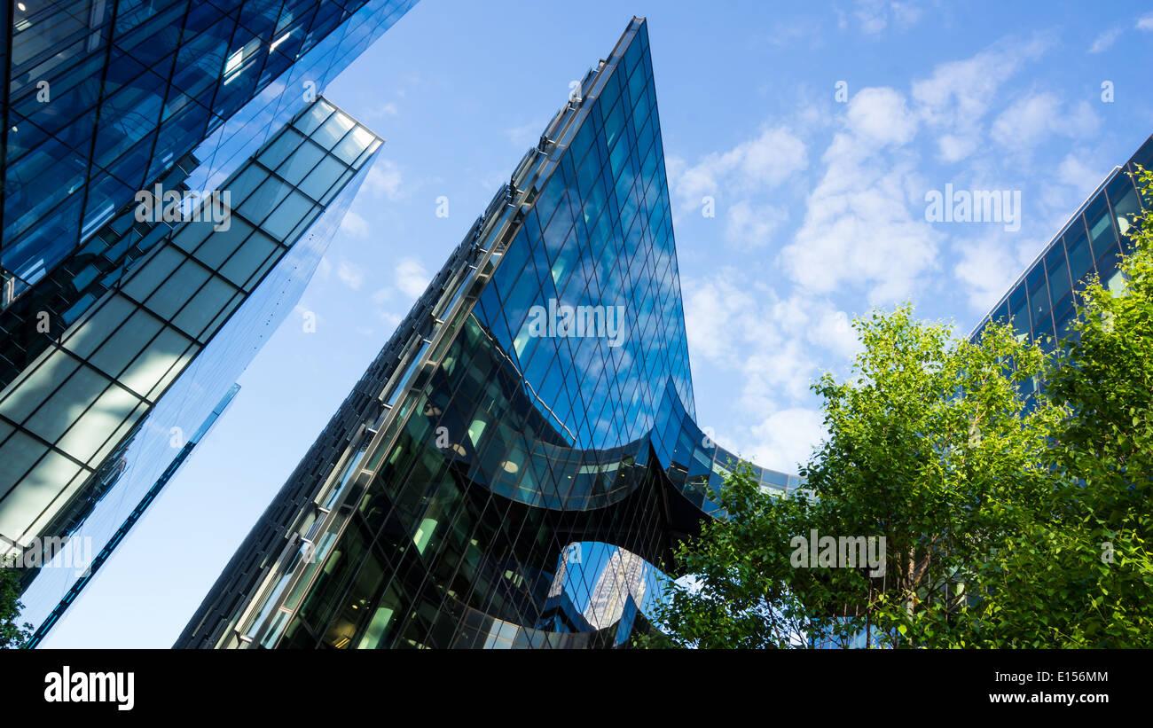 La arquitectura moderna Foto de stock