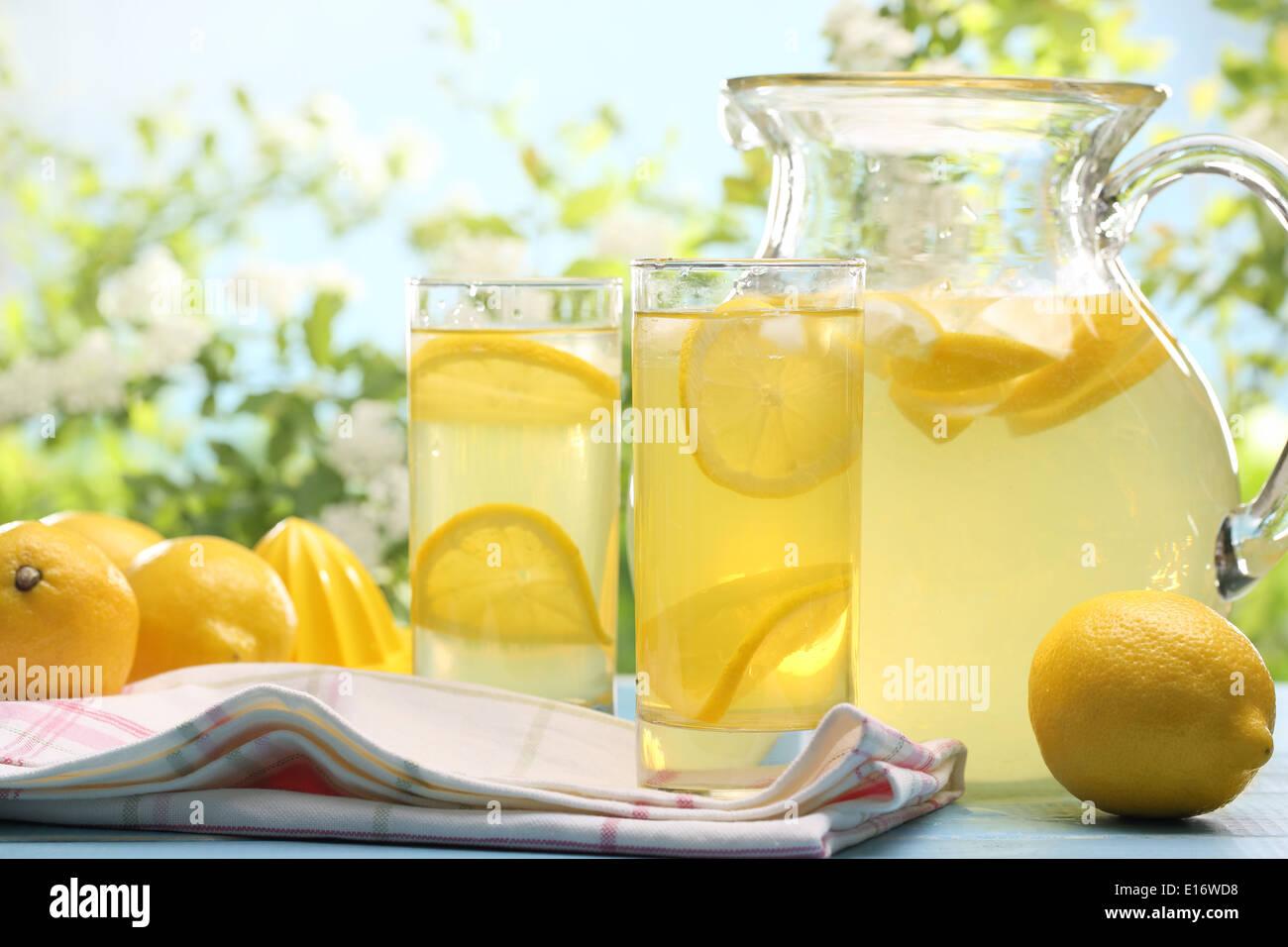 Citrus limonada,copa de verano. Imagen De Stock