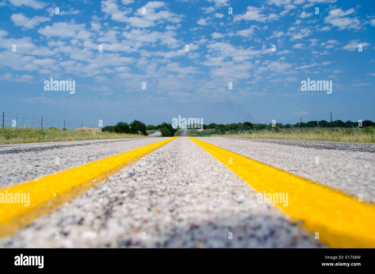 Camino Abierto Texas USA Foto de stock