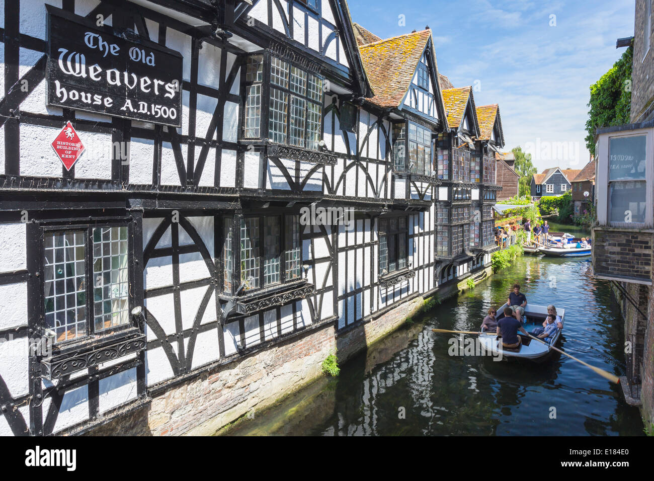 Viaje Río bote sobre el Río Stour Canterbury Kent Imagen De Stock