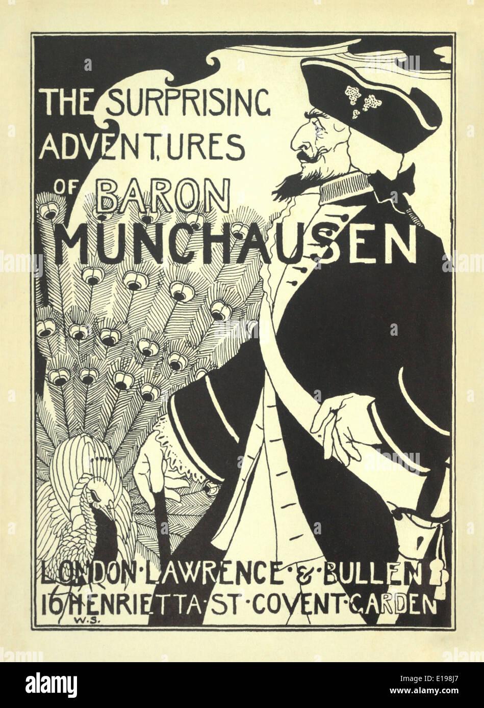 """William Strang (1859-1921) Ilustración de 'las sorprendentes aventuras del barón de Munchausen"""" por Rudoph Raspe publicada en 1895. Foto de stock"""