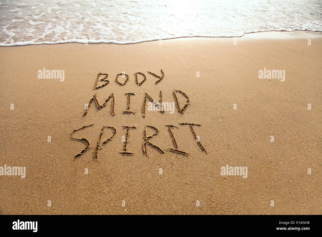 El cuerpo, la mente y el espíritu Imagen De Stock
