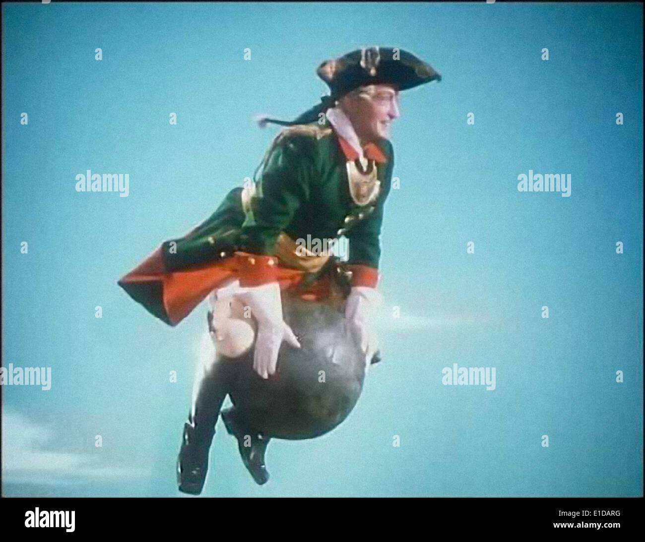 """Todavía de """"Las aventuras del barón Munchausen' (Münchhausen) publicado en 1943 dirigida por Josef von Báky, protagonizada por Hans Albers. Foto de stock"""