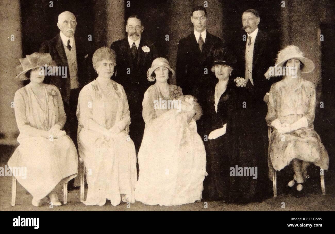 El bautizo de la Princesa Isabel María Alexander Imagen De Stock
