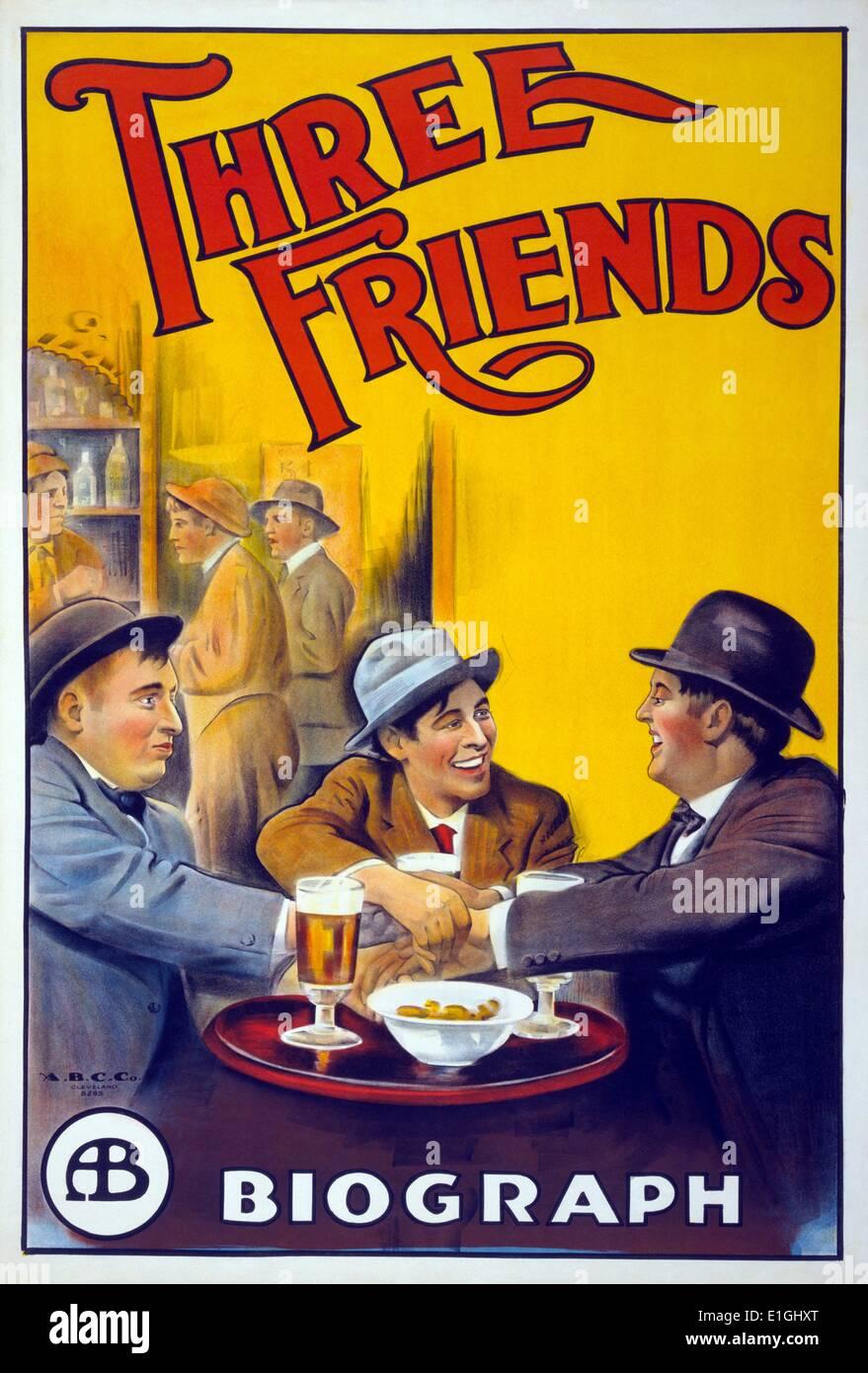 """""""Tres amigos"""", un álbum conceptual de 1972 por la banda de rock progresivo británica Gentle Giant. Imagen De Stock"""