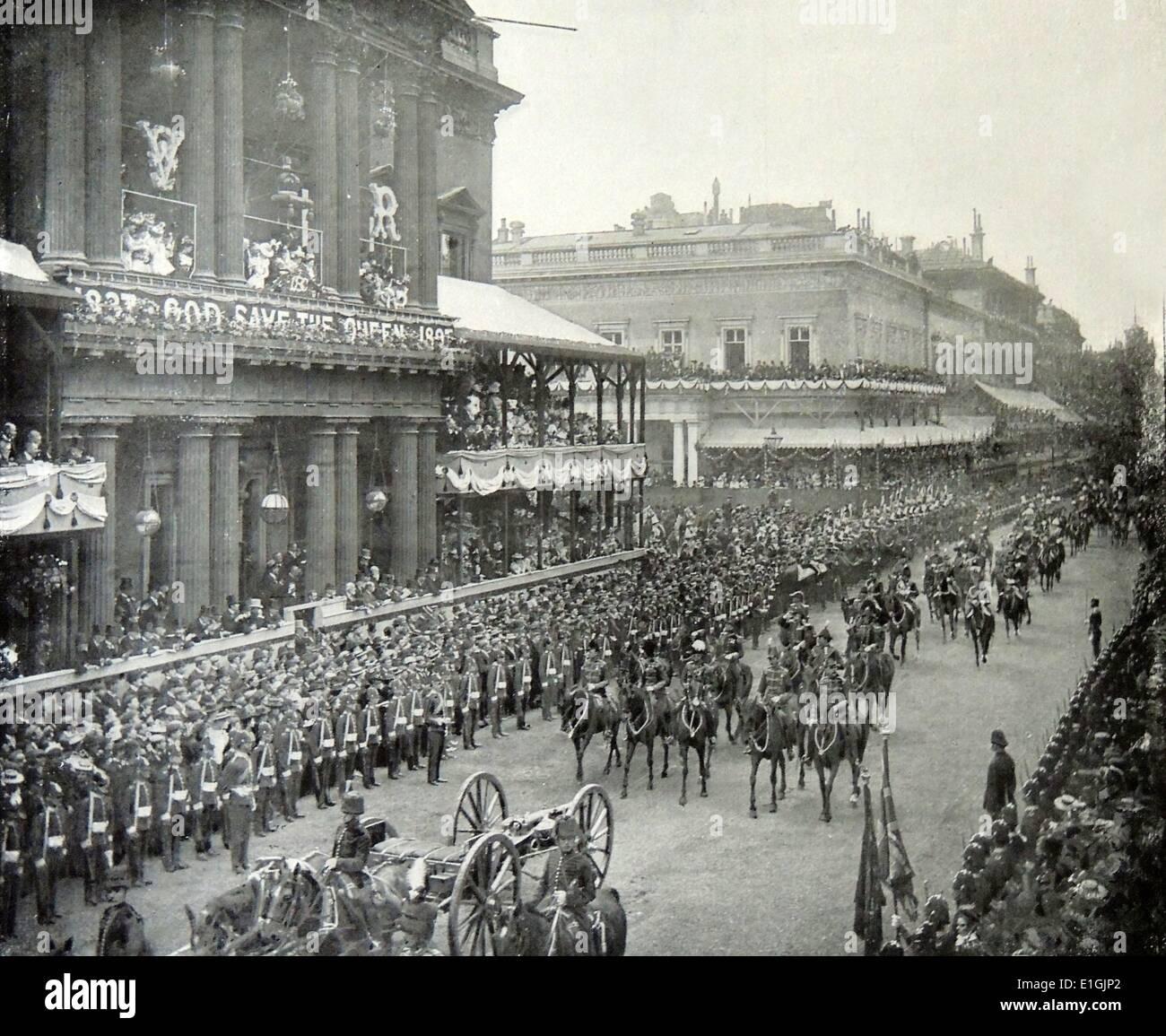 Desfile de bodas de diamante de la reina Victoria 1897. Imagen De Stock