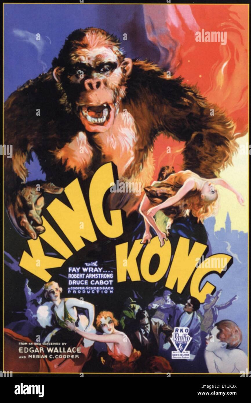 'King Kong', un gigante del monstruo de la película que ha aparecido en varias películas desde 1933. Imagen De Stock