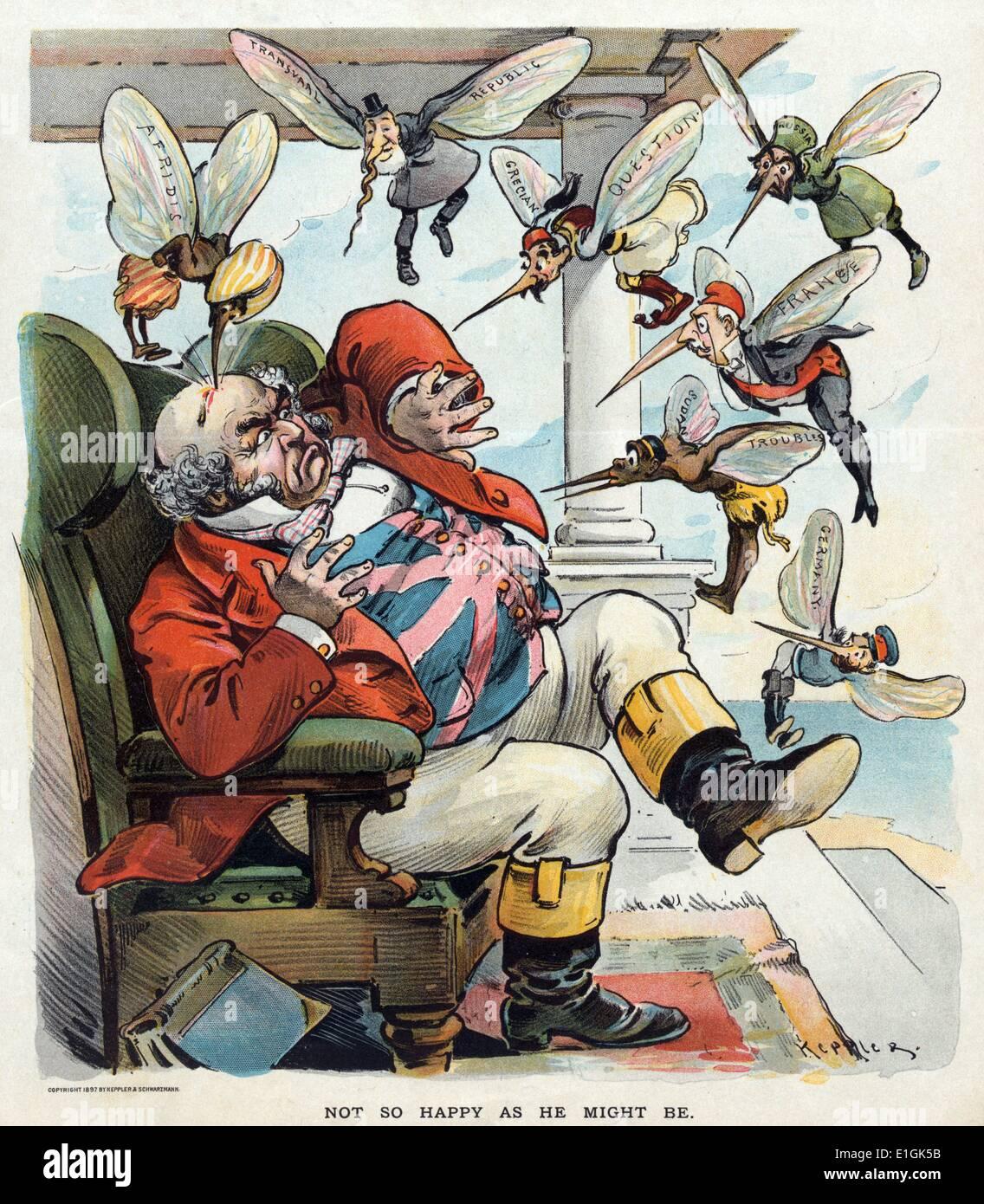 Impresión de John Bull por Udo Keppler Imagen De Stock