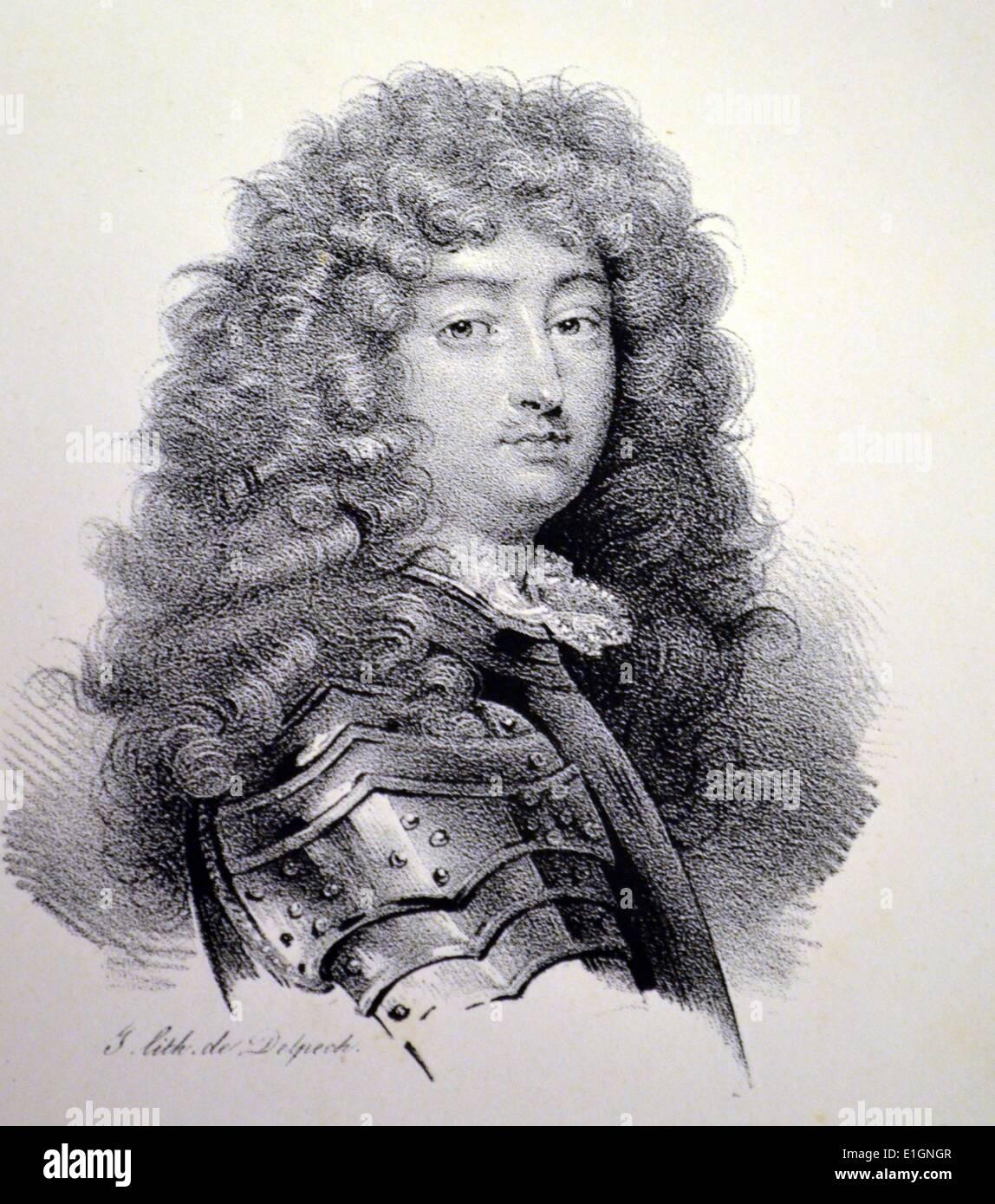 Louis XIV (1638-1715) el Rey Sol. El rey de Francia, 1613-1715. Litografía, París, c1840. Foto de stock