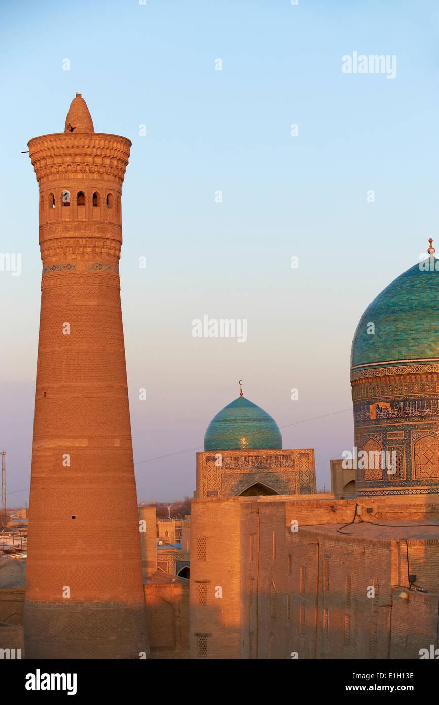 Uzbekistán, Bukhara, patrimonio mundial de la Unesco, la mezquita Kalon Imagen De Stock