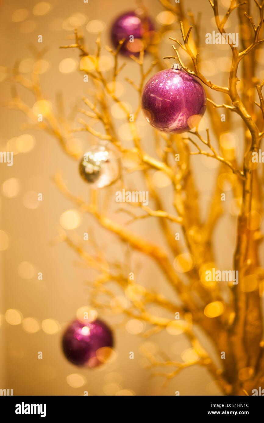 Feliz Navidad de oro Fondo de invierno - X-mas arte diseño Imagen De Stock