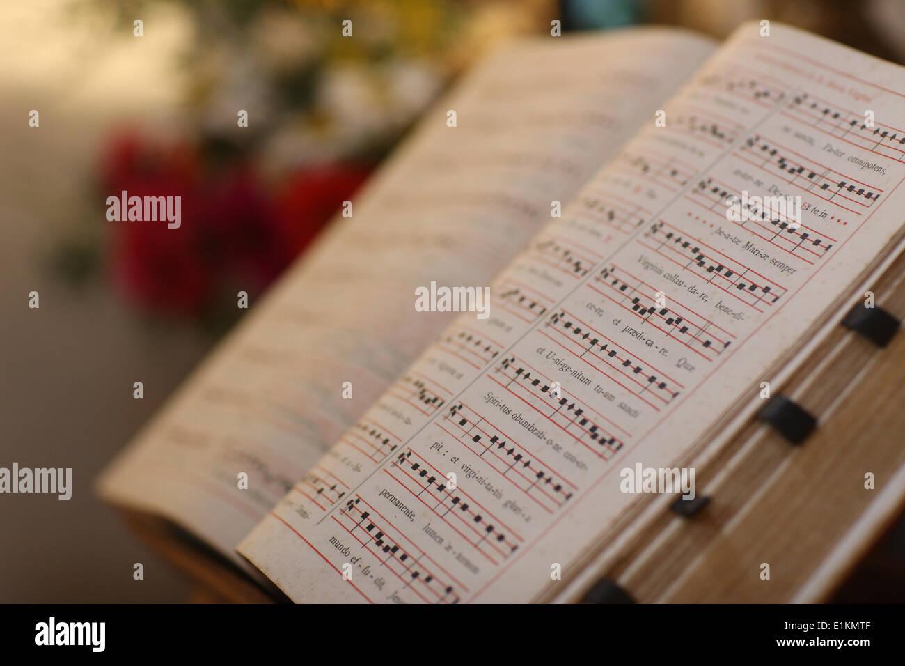 Puntuación de música religiosa Imagen De Stock