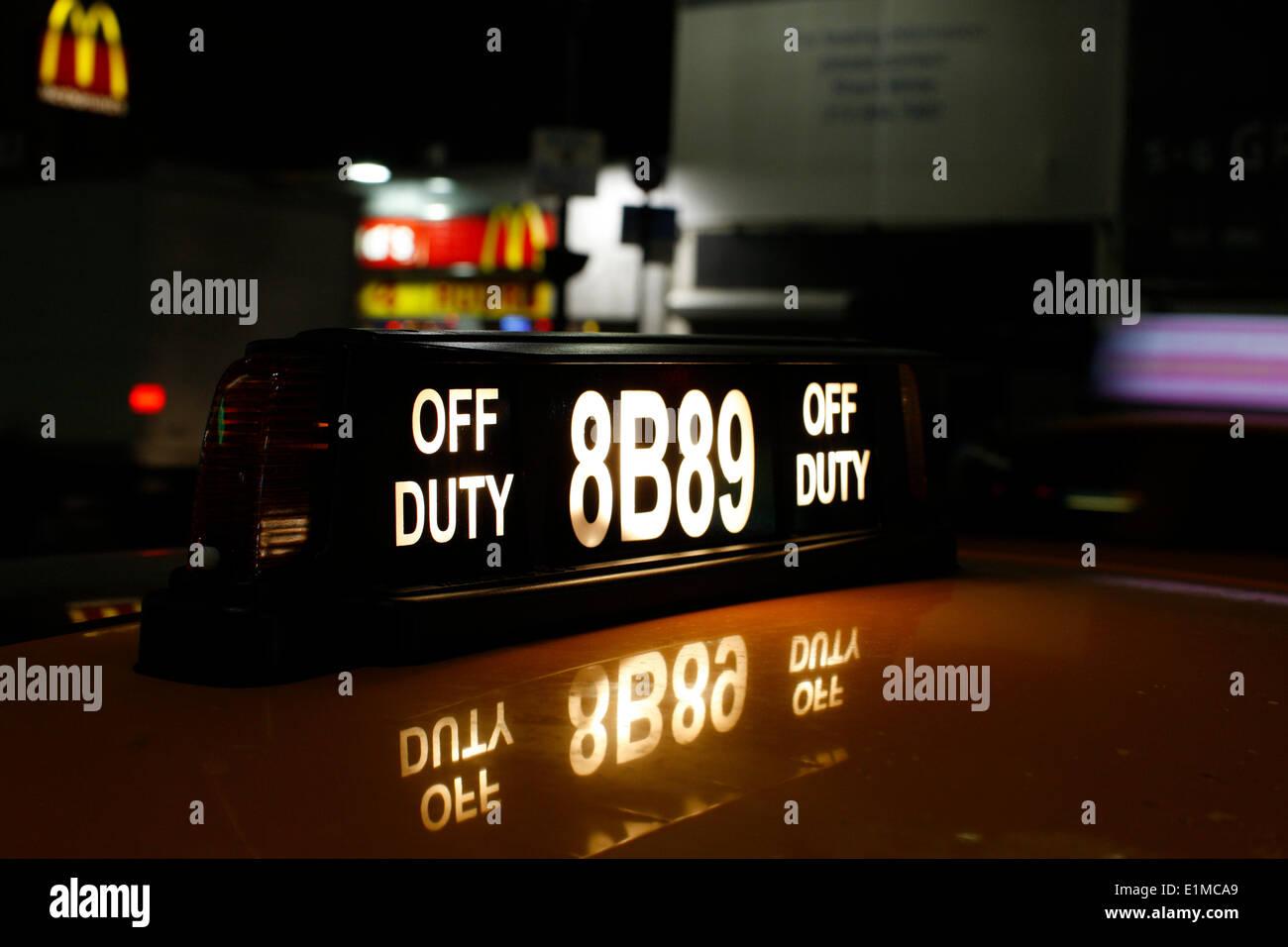 Taxi de Nueva York Imagen De Stock
