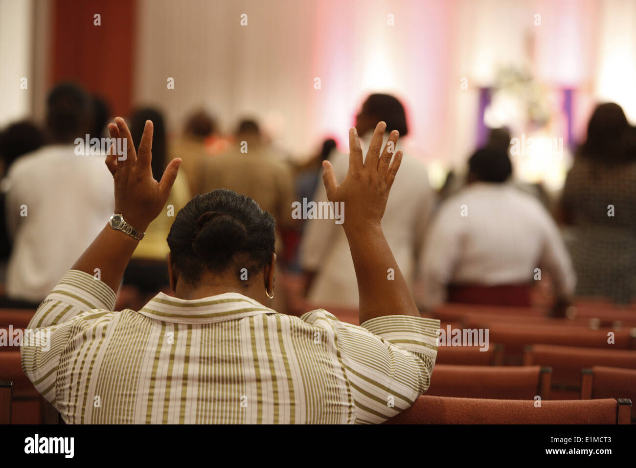 Domingo servicio en palabras de vida Fellowship Church, Miami Imagen De Stock