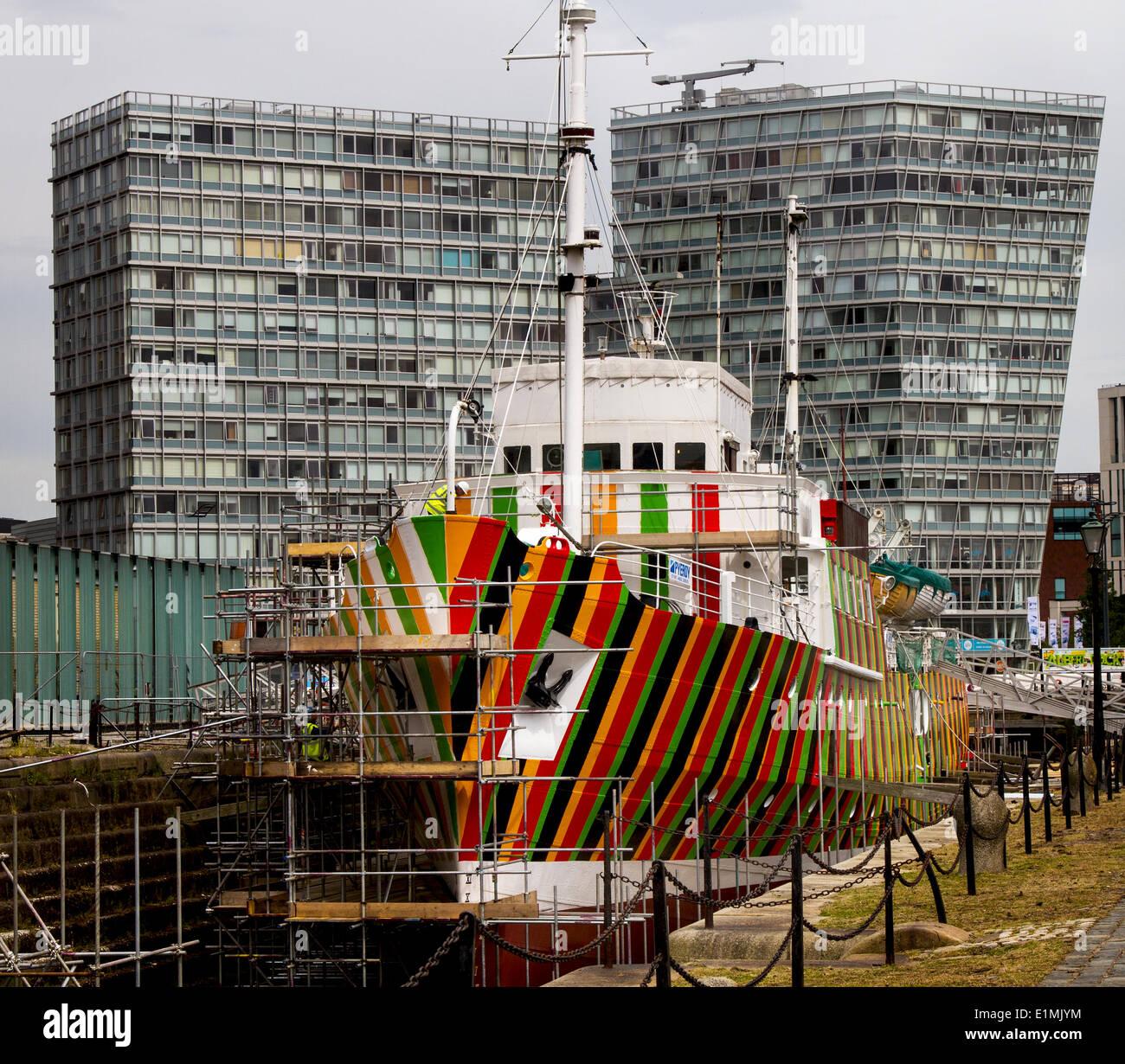 Liverpool, Reino Unido, 6 de junio de 2014. El Festival del Río Mersey donde Liverpool cortador piloto número 2, Foto de stock