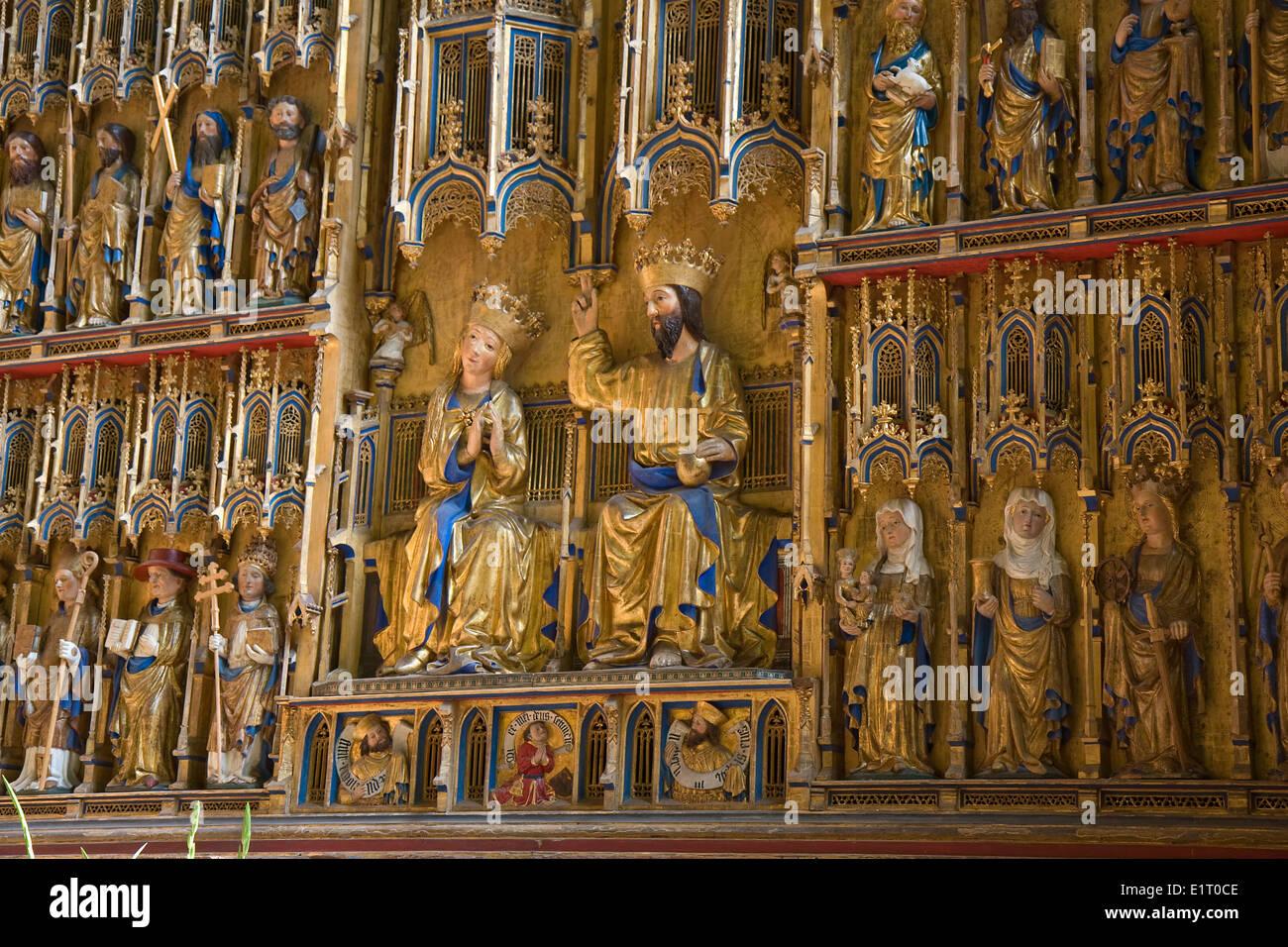 Europa, en Alemania, en el Estado federado de Mecklemburgo-Pomerania Occidental, Wismar, Iglesia de San Nicolás,interieur Foto de stock