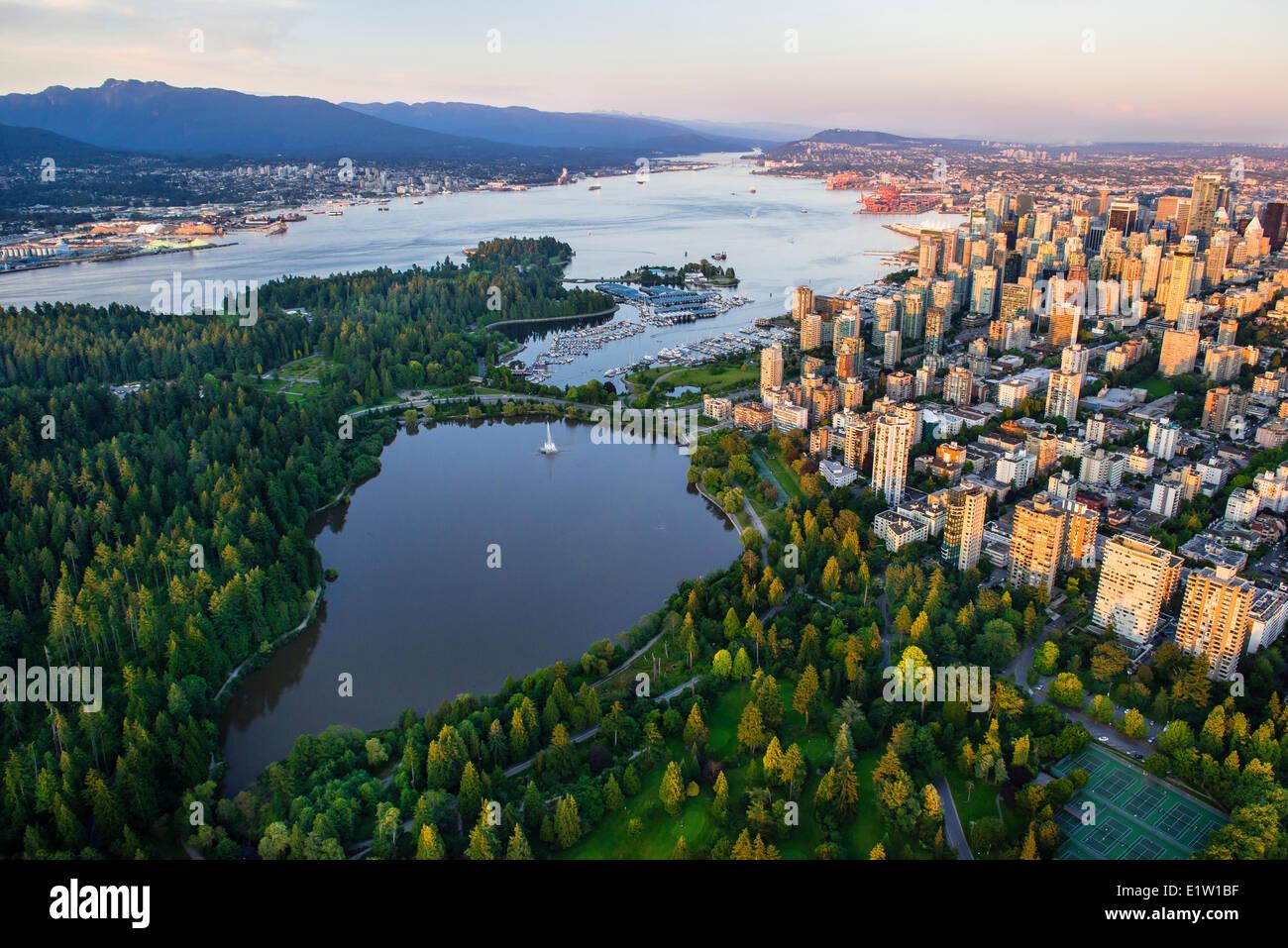 Vancouver, el Parque Stanley y Lost Lagoon. Imagen De Stock