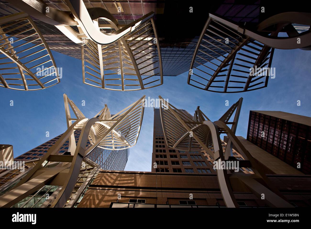 """Los """"árboles"""", escultura de acero diseñado para reducir el viento entre los edificios de Stephen Imagen De Stock"""