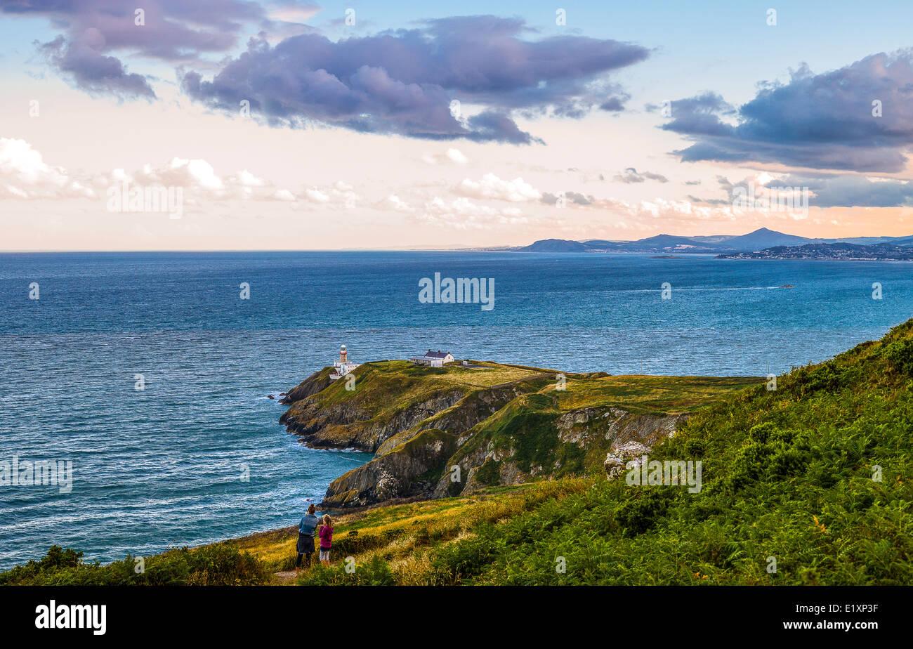 Irlanda, Dublin County, la bahía de Dublín, visto desde el cabecero Howth Foto de stock