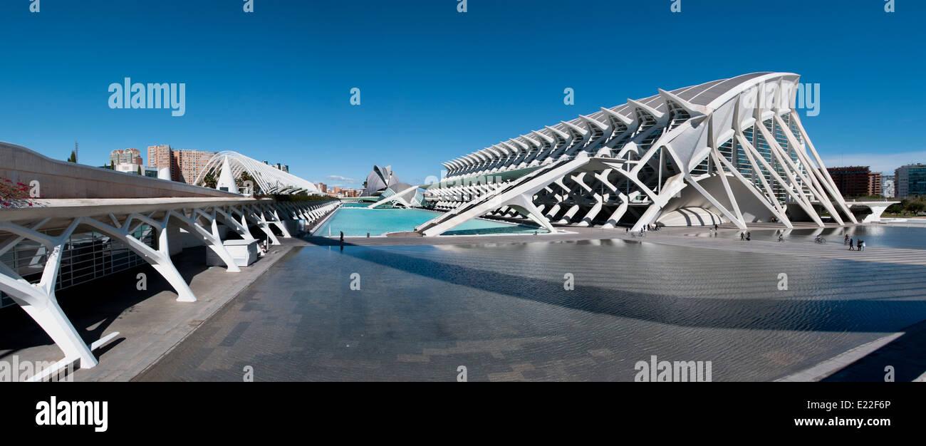 España Las Artes y las Ciencias de Valencia Park ( Ciudad de las Artes y las ciencias de Valencia ) España Imagen De Stock