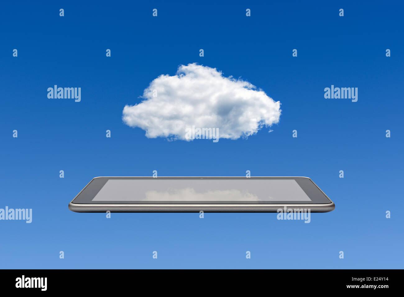 La computación en nube. Imagen De Stock